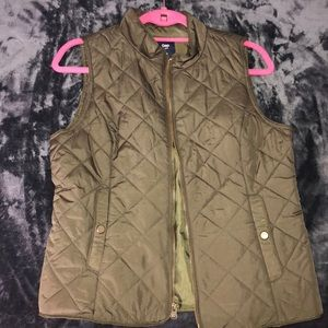Olive green cute vest